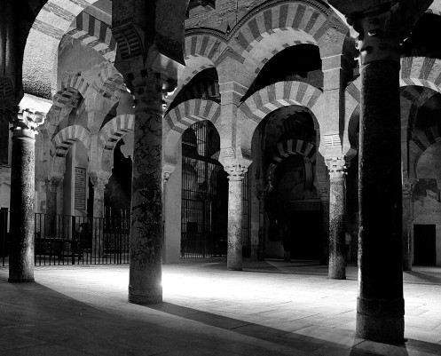 Inside the Great Mosque, Cordoba Spain